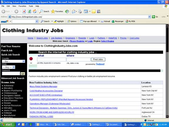 Clothing Industry Jobs