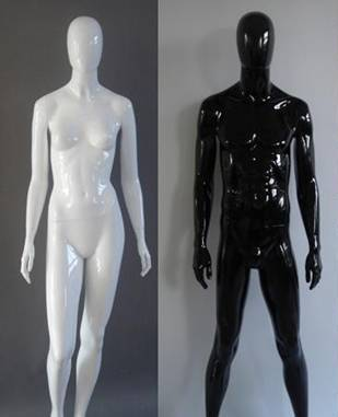 Mannequin White and Black Fashion Mannequins