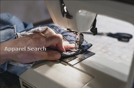 Sewing Jeans on Sewing Machine