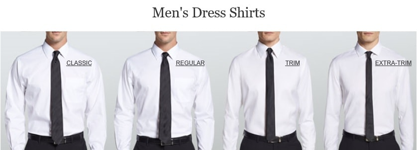 Dress shirts for Different types of dress shirt collars