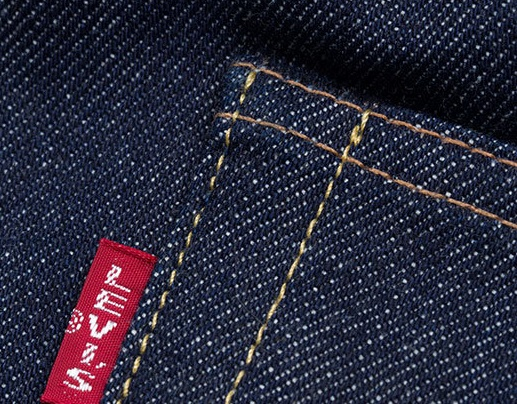 Big E Red Tab on Levi Jeans