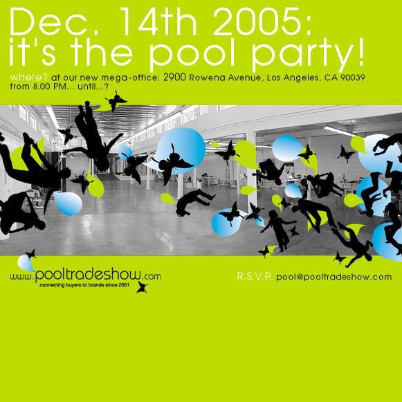 Pool trade show party celebrating new space november 16 for Pool trade show