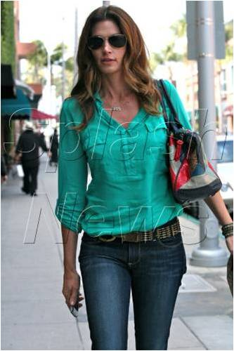Cindy Crawford Wearing Earnest Sewn Jeans