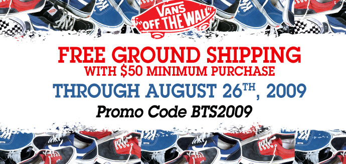 Free Shipping For Back To School 2009 at Vans a35c4c01c