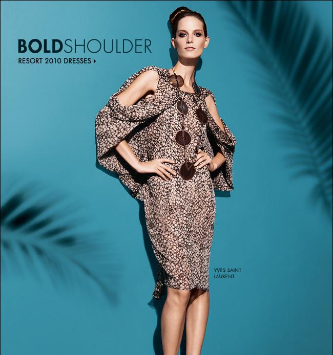 767037bfe431f Bold Shoulder Resort Dresses Neiman Marcus 2010 Collection