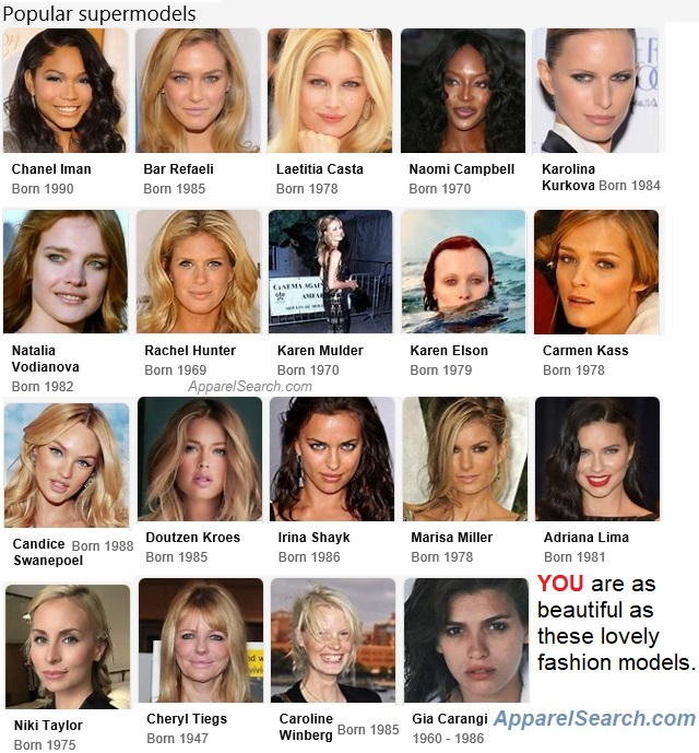 Popular Supermodels Fashion