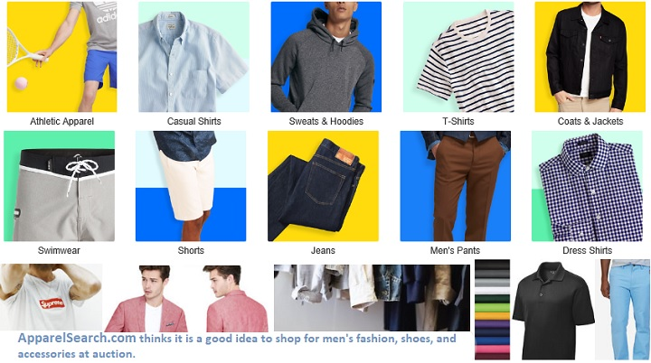 Mens Clothing Shopping Directory   Mens Clothing at Auction cf00c48e471a1