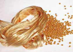 soybean fiber for soybean textiles and soy fabric